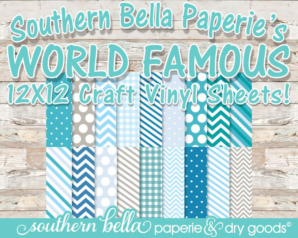 12x12 Patterned Vinyl Sheet Mixed Patterns Chevron Blues
