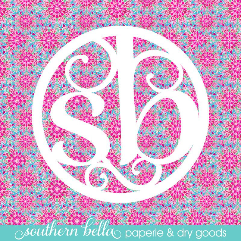 12x12 Patterned Vinyl Sheet Bright Pink Floral Bright