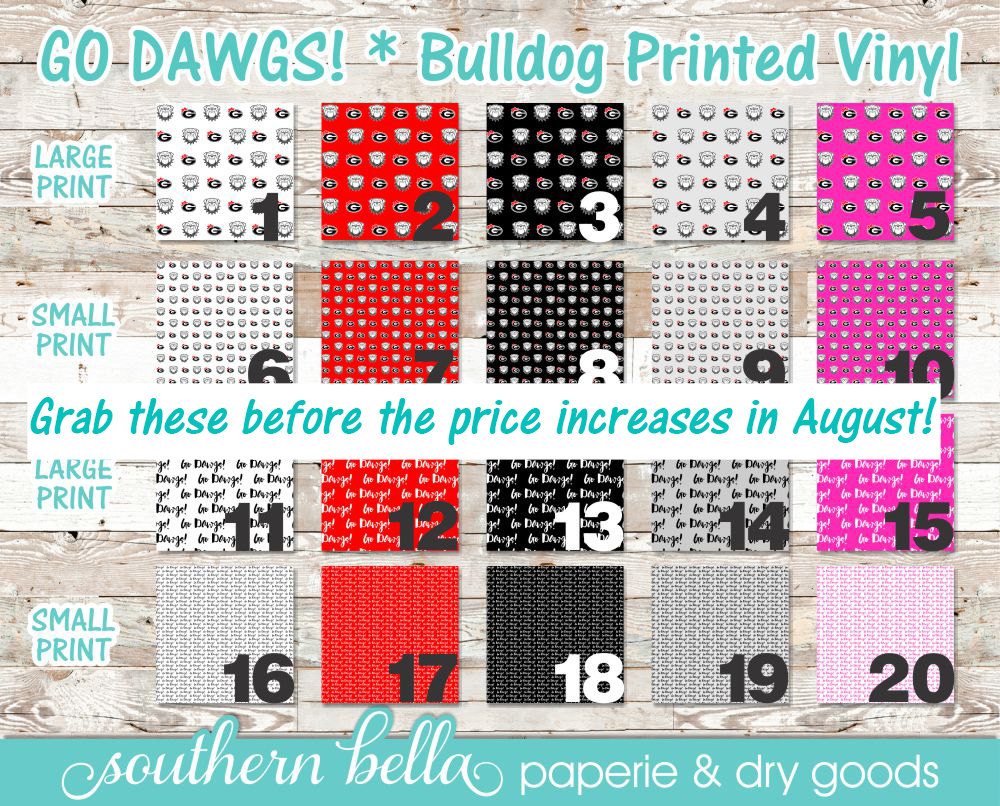 12x12 Patterned Vinyl Sheets Go Dawgs Htv Or Regular