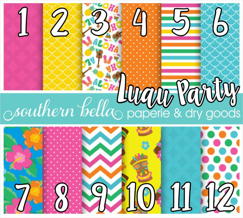 luau party hawaiian tropical beach vacation pattern vinyl adhesive
