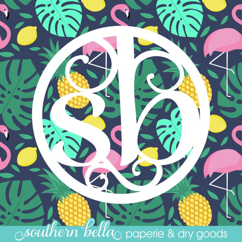 Pineapples Flamingos Tropical 6x6 Sampler Patterned Vinyl