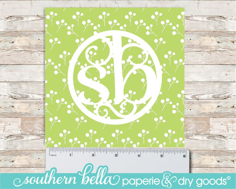 Spring Flowers Collection Apple Green Floral Pattern 6x6