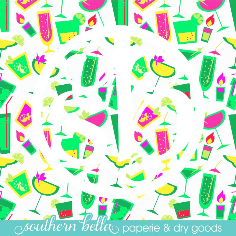 Tropical Pool Cocktails Printed Pattern Vinyl Outdoor Htv